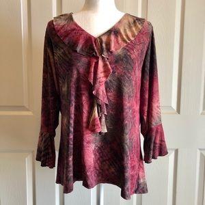 WOMENS 2X DRESS BARN blouse TOP shirt BEAUTIFUL!
